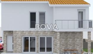 Dvojna kuća u izgradnji 140 m2 – Vir *600 m OD MORA* *BAZEN*  (ID-2001)